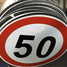 Speed Limit Road Sign